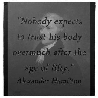 Alter von fünfzig - Alexander Hamilton Stoffserviette