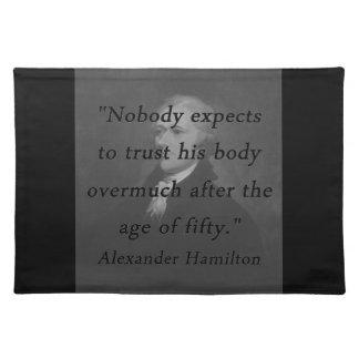 Alter von fünfzig - Alexander Hamilton Stofftischset