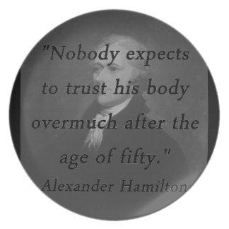 Alter von fünfzig - Alexander Hamilton Teller