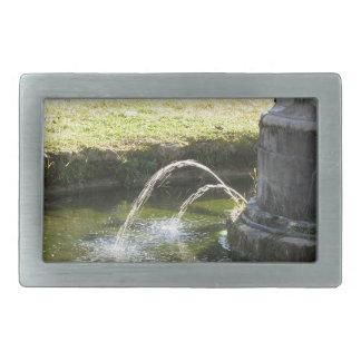 Alter Wasserbrunnen in einem allgemeinen Park Rechteckige Gürtelschnalle