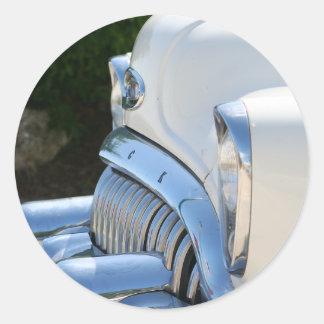 Alter weißer Buick-Aufkleber Runder Aufkleber