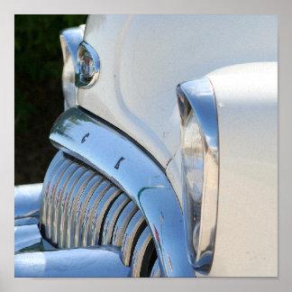 Alter weißer Buick-Druck Poster