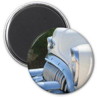 Alter weißer Buick-Magnet Runder Magnet 5,7 Cm