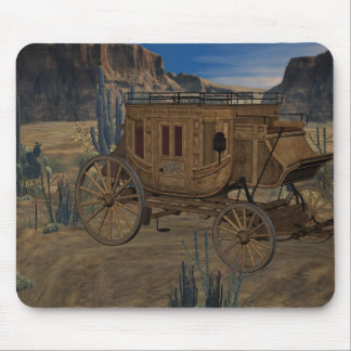 Alter wilder WestStagecoach Mousepad