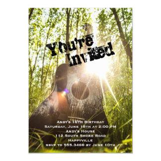 Ältere Jungen-Geburtstags-Party-Gitarren-Einladung Karte