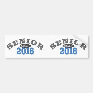 Ältere Klasse von Blau 2016 Autoaufkleber