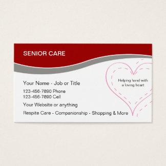 Ältere Zuhause-Sorgfalt-Geschäfts-Karten Visitenkarte