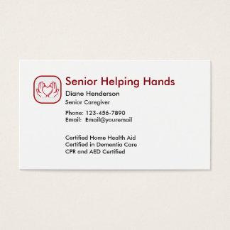 Ältere Zuhause-Sorgfalt Visitenkarte