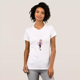 Älterer Frauen-Läufer T-Shirt