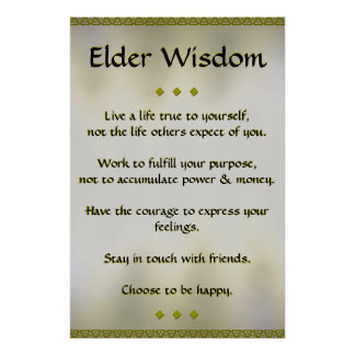 Älteres Klugheits-Goldplakat Poster