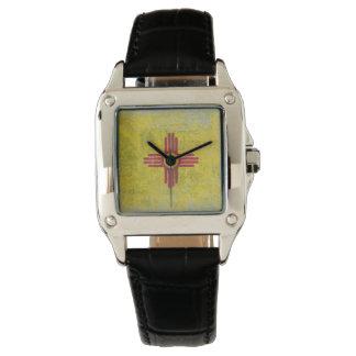 Altern der New Mexikoflagge Armbanduhr