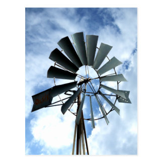 Alternative Energie - Pinwheel-Windmühlen-Power Postkarte