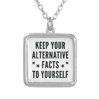 Alternative Tatsachen Versilberte Kette