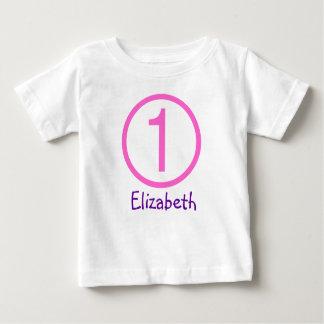 Alters-und Namen-kundengerechtes 1. Baby T-shirt