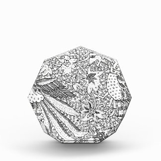 Altes abstraktes Textilnatur-Muster Acryl Auszeichnung