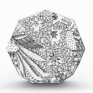 Altes abstraktes Textilnatur-Muster Auszeichnung
