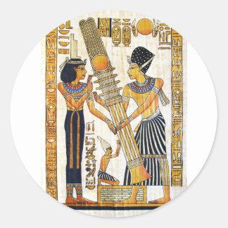 Altes Ägypten 1 Runder Aufkleber