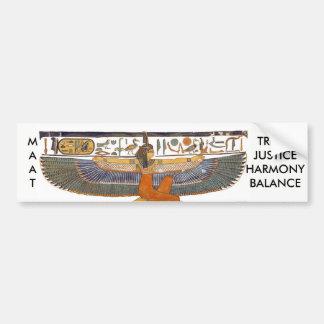 Altes Ägypten-Göttin MA'AT Autoaufkleber