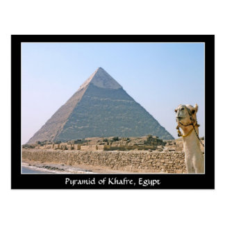 Altes Ägypten: Pyramide von Khafre, Ägypten Postkarte