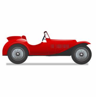 Altes antikes Sport-Auto Freistehende Fotoskulptur