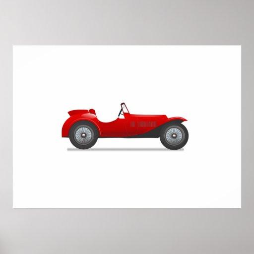 Altes antikes Sport-Auto Poster