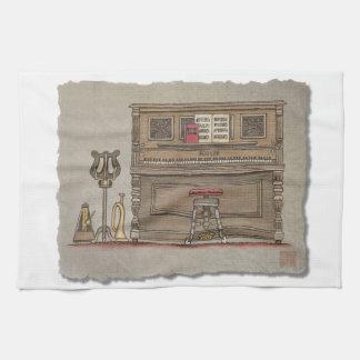 Altes aufrechtes Klavier Handtuch