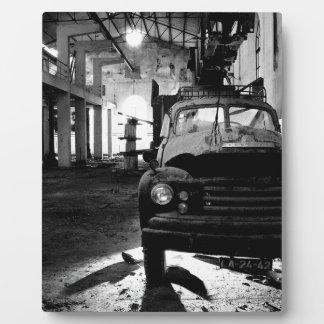 Altes Auto Fotoplatte