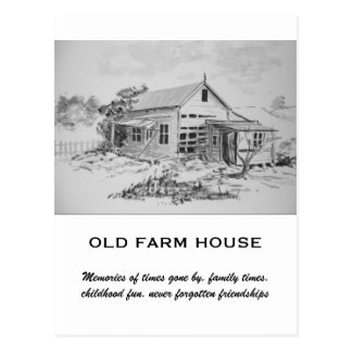 Altes Bauernhof-Haus Postkarte