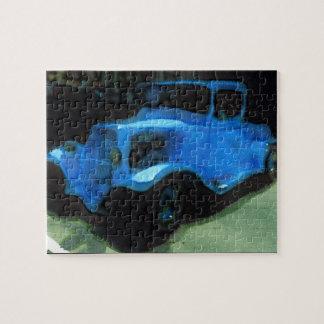 Altes blaues LKW-Puzzlespiel Puzzle