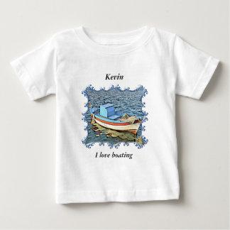 Altes Boot im ruhigen Ozean Baby T-shirt