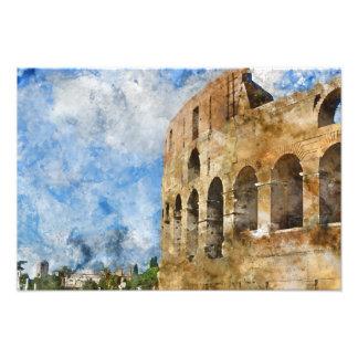 Altes Colosseum in Rom Italien Fotodruck