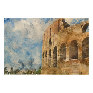 Altes Colosseum in Rom Italien Holzdruck
