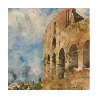 Altes Colosseum in Rom Italien Holzleinwand