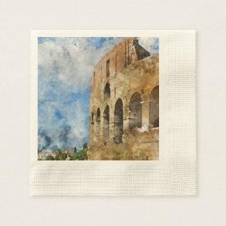 Altes Colosseum in Rom Italien Serviette