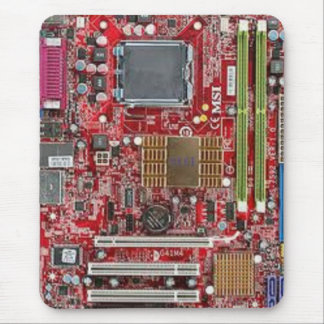 Altes Computer-Motherboard Mousepad