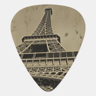 Altes Eiffel-Turm-Foto Plektron