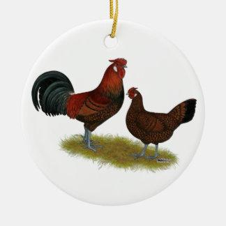 Altes englisches Fasan-Geflügel Keramik Ornament
