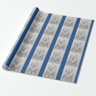 Altes englisches Schäferhund-Packpapier Geschenkpapier