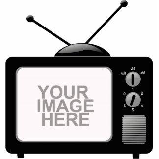 Altes Fernsehen Freistehende Fotoskulptur