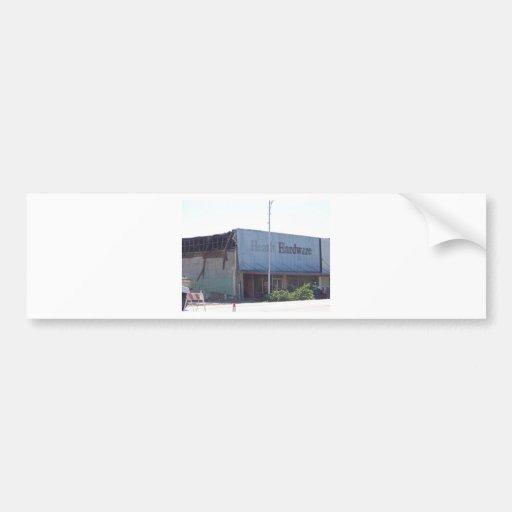 Altes Gebäude in (Wetumka O.K.) Autoaufkleber