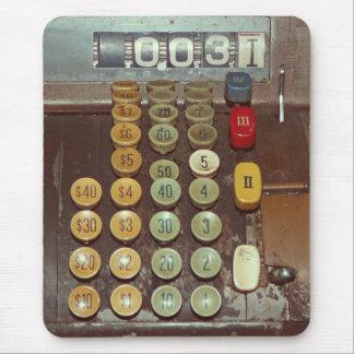 Altes Geld-Zähler - antike Registrierkasse Mousepad