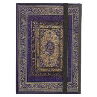 Altes Gold auf lila dekorativem Bucheinband