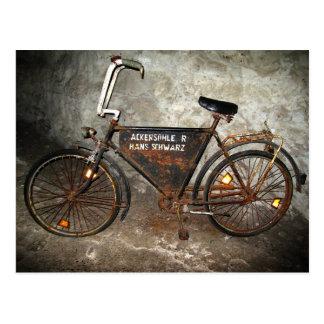 Altes Gruben-Fahrrad Postkarte