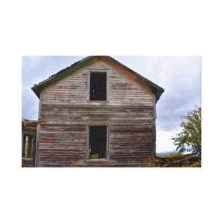 Altes Haus auf Leinwand