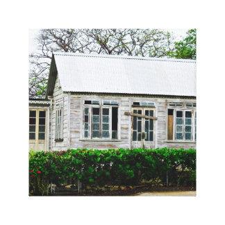 Altes Haus - Barbados WI - Leinwand-Kunst Leinwanddruck