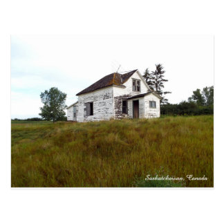 Altes Haus in Saskatchewan-Postkarte Postkarte