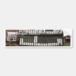 Altes hölzernes Gebäude in York Autosticker