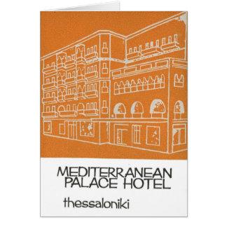 Altes Hotel Griechenland Anzeige-Saloniki Karte