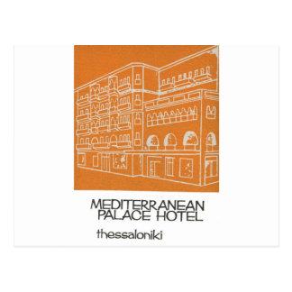 Altes Hotel Griechenland Anzeige-Saloniki Postkarte
