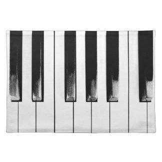 Altes Klavier befestigt lustiges cooles Stofftischset